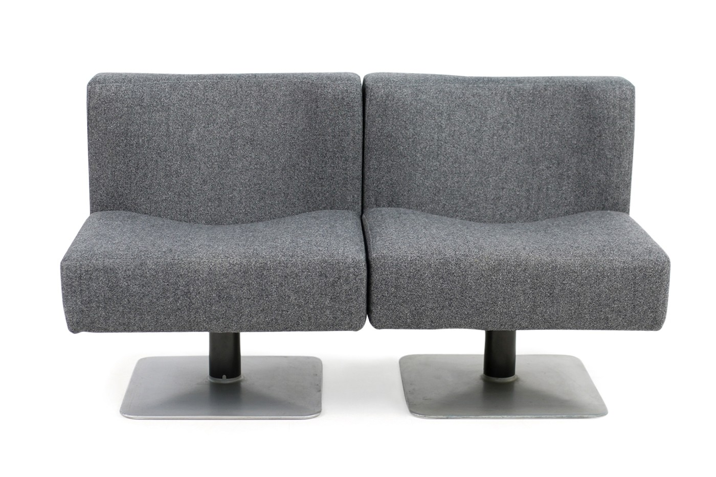 pair of 1970s modular lounge chairs herbert hirche for mauser 1974 objects. Black Bedroom Furniture Sets. Home Design Ideas