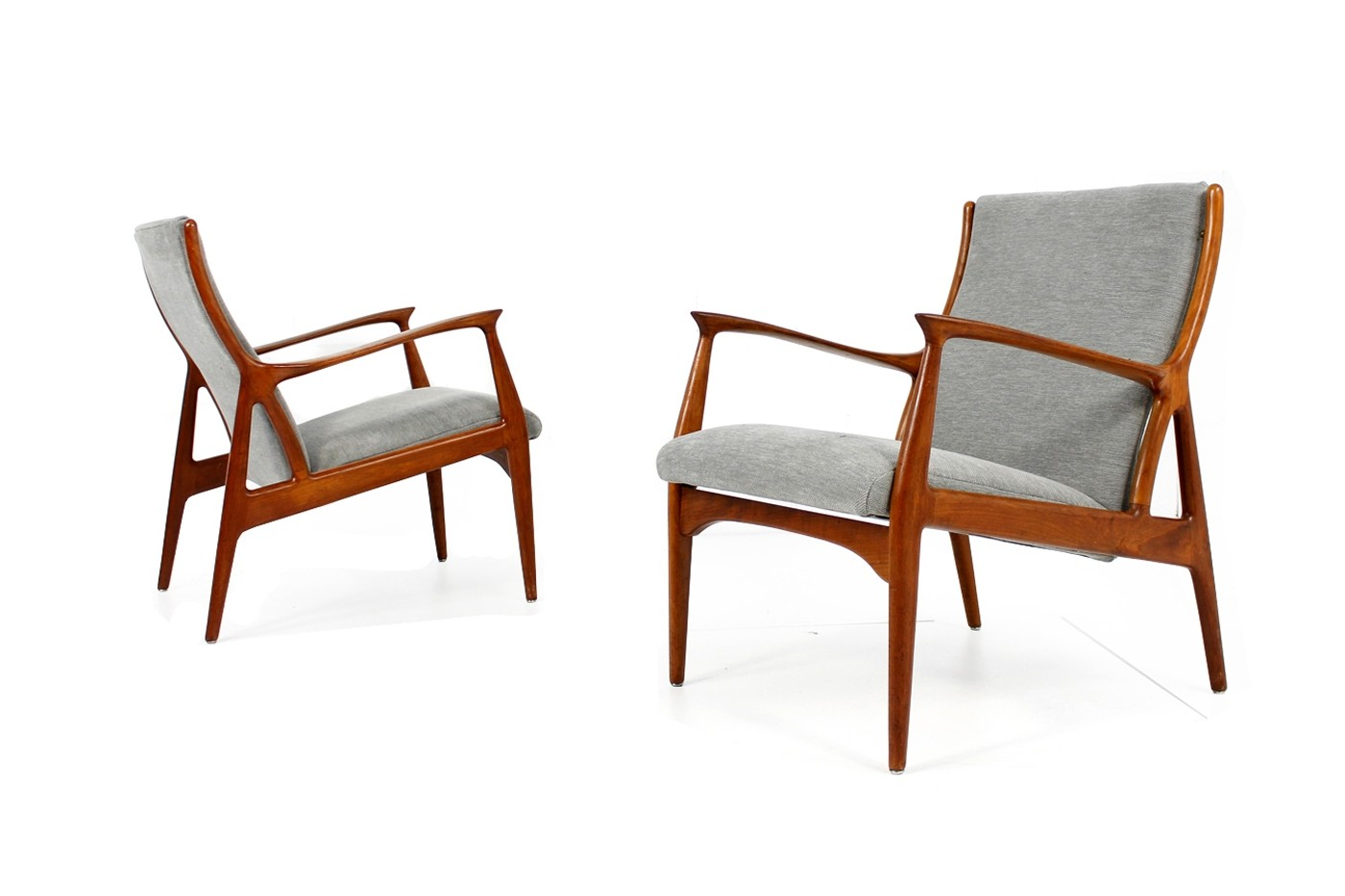 Superb Pair Of 1960S Danish Teak Easy Lounge Chairs Erik Andersen Beatyapartments Chair Design Images Beatyapartmentscom