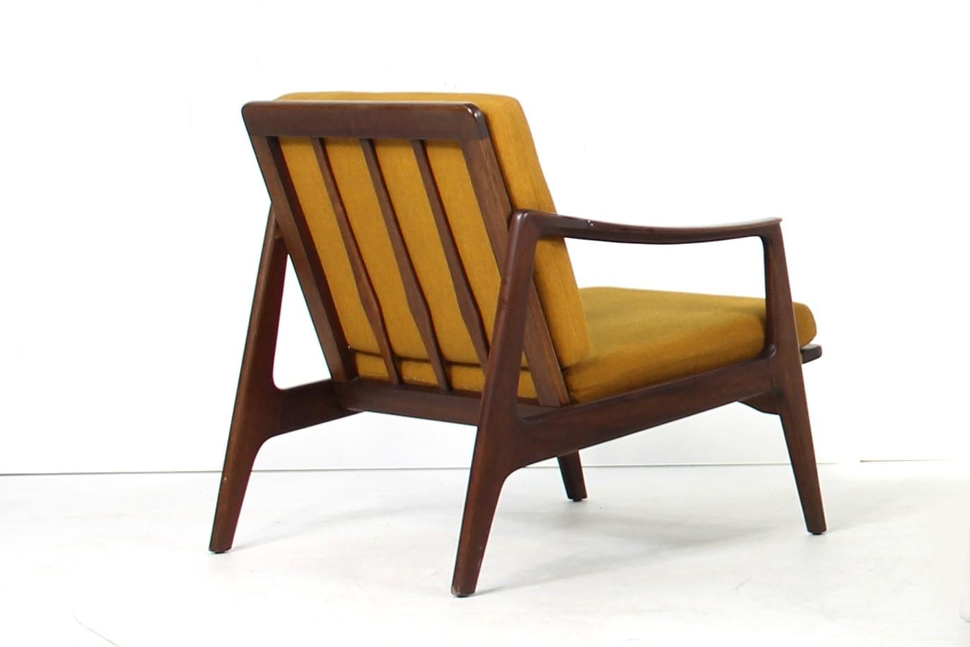 Beautiful 1960s Teak Easy Chair Mid Century Modern Design