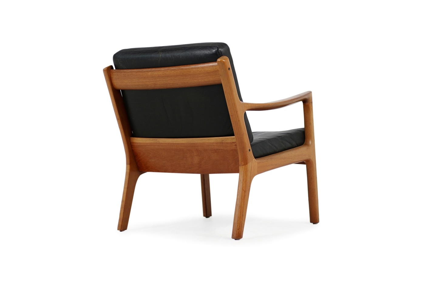 Sessel modern  1960s Danish Modern Ole Wanscher Easy Chair Teak & Black Leather No. 2