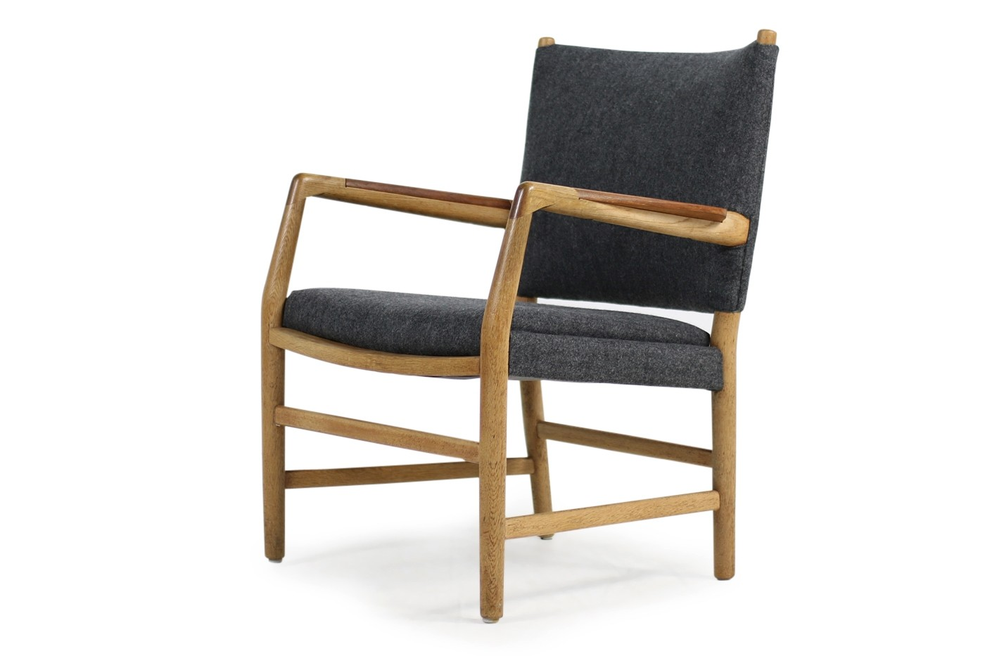 1950s hans j wegner 39 town hall 39 chair oak teak danish modern. Black Bedroom Furniture Sets. Home Design Ideas