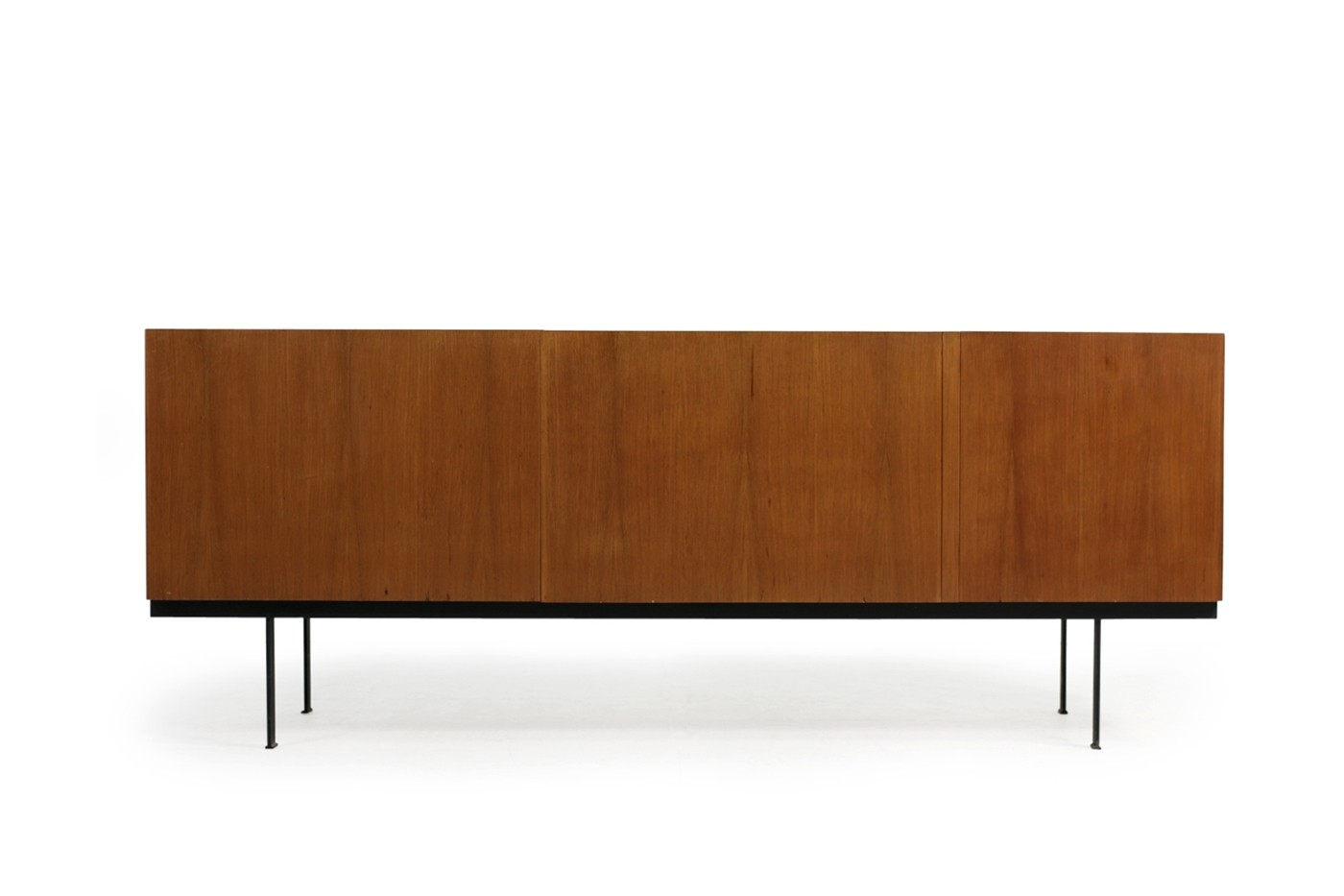 mid century modern minimalist teak sideboard germany. Black Bedroom Furniture Sets. Home Design Ideas