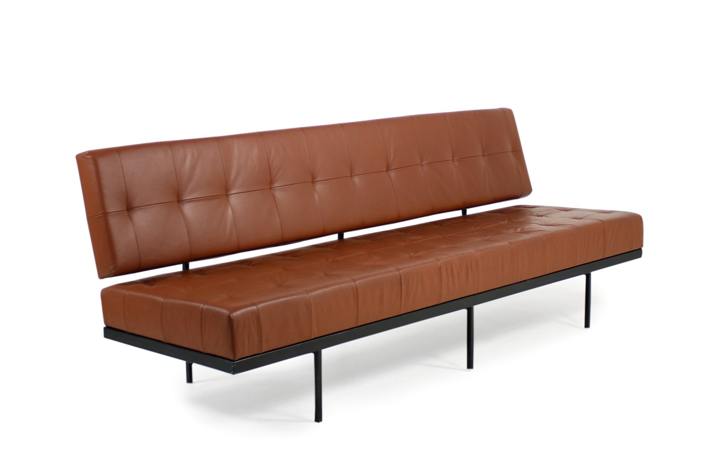 1960s Florence Knoll Custom Daybed Sofa Cognac Leather ...
