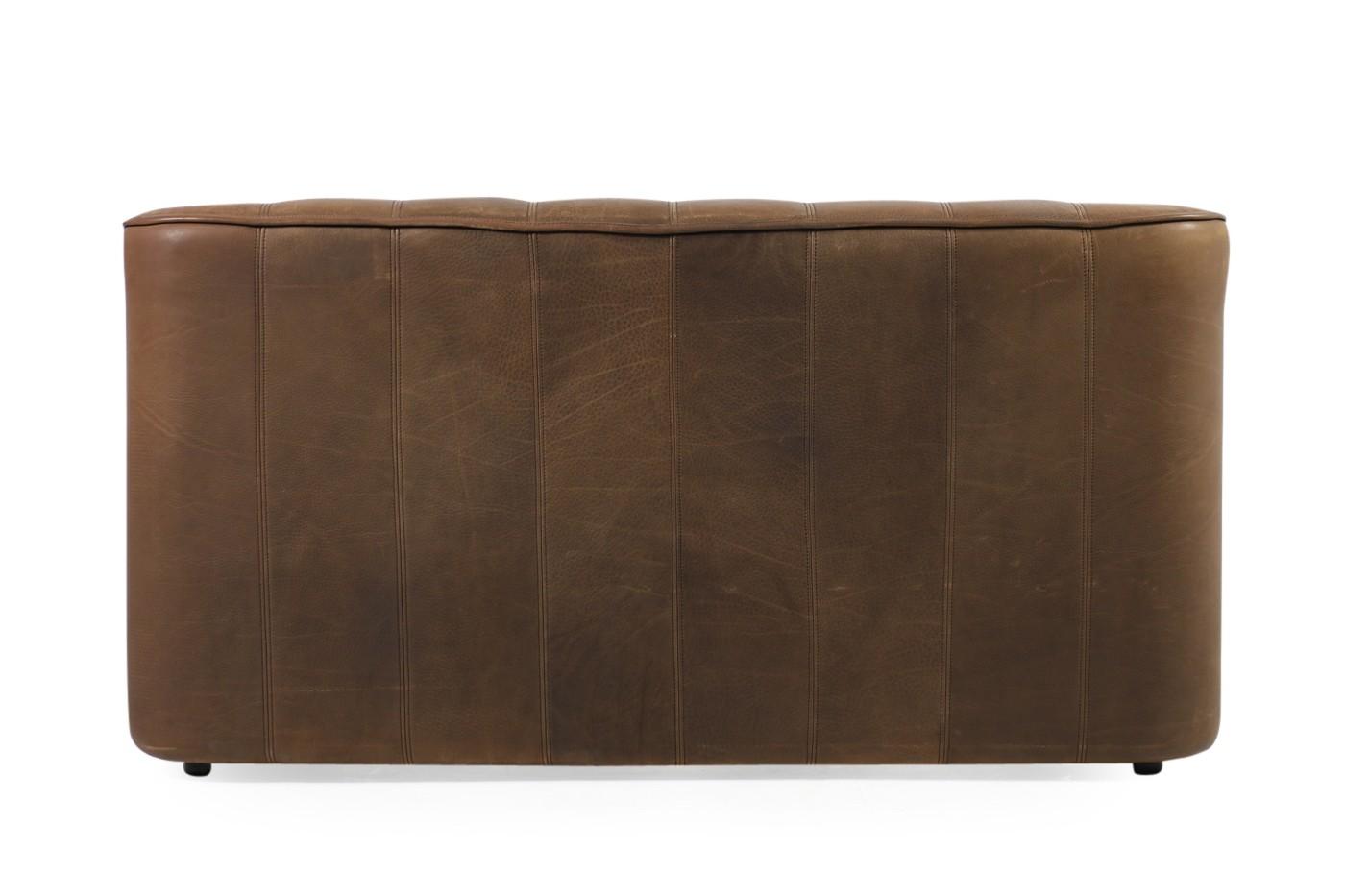 1970s vintage de sede ds 44 two seat sofa brown buffalo leather. Black Bedroom Furniture Sets. Home Design Ideas