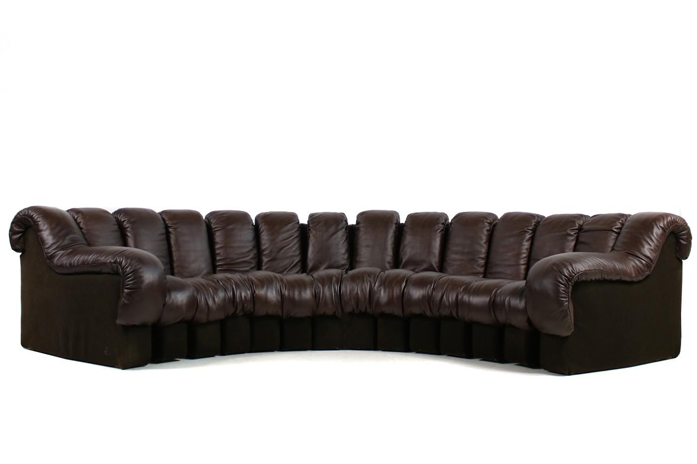 sold 1970s de sede ds 600 lounge leather sofa ueli berger. Black Bedroom Furniture Sets. Home Design Ideas