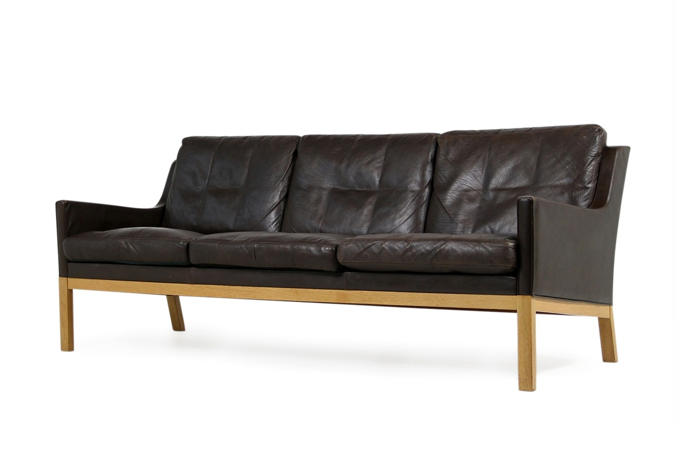 Tremendous 1960S Kai Lyngfeldt Larsen Oak Brown Leather Sofa Soren Willadsen Download Free Architecture Designs Salvmadebymaigaardcom