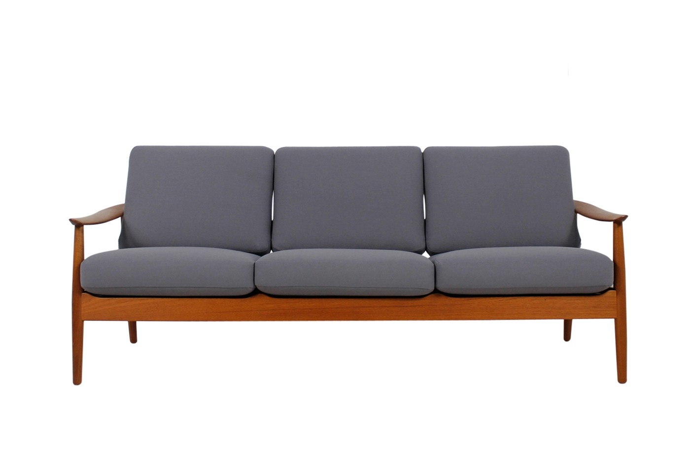1960s arne vodder teak sofa danish modern design mid century objects. Black Bedroom Furniture Sets. Home Design Ideas