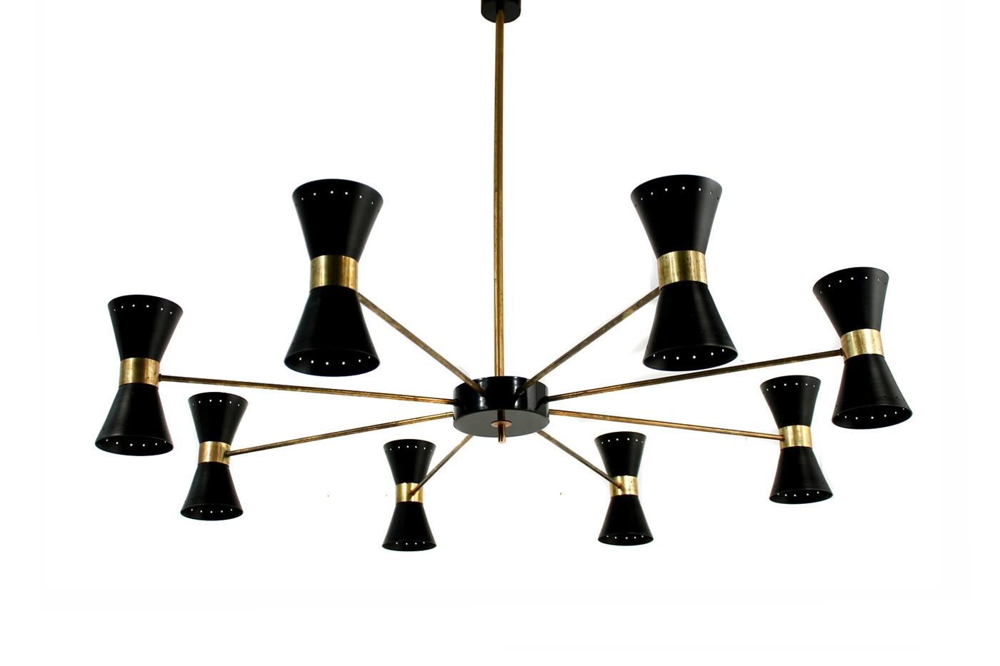 chandelier shade doracy light metal chandeliers cone lighting ceiling modern spider pendant lights