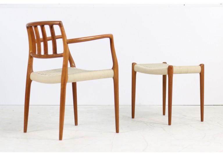 60er Armlehnstuhl Stuhl Niels Möller Teak Mod. 66 danish modern design