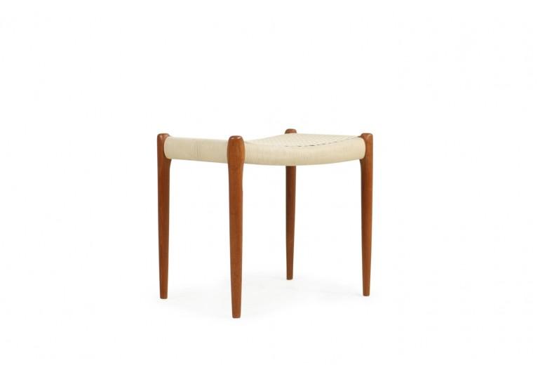 60er Teak Hocker, Niels Möller Mod. 80A danish modern design