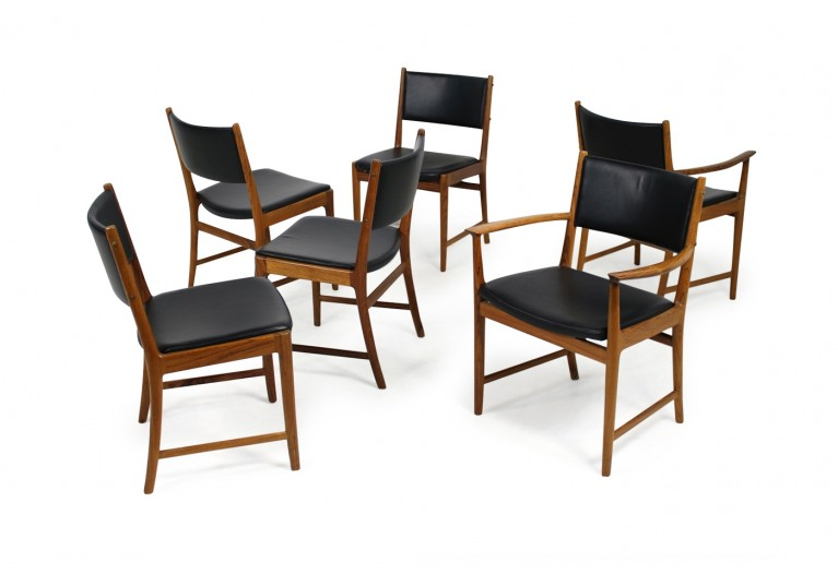 Set of 6 Rosewood Chairs Kai Lyngfeldt Larsen for Søren Willadsen