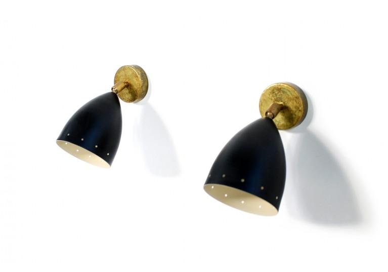 stilnovo, arredoluce, brass sconces, itailan modern design, 60er, 50er lampe