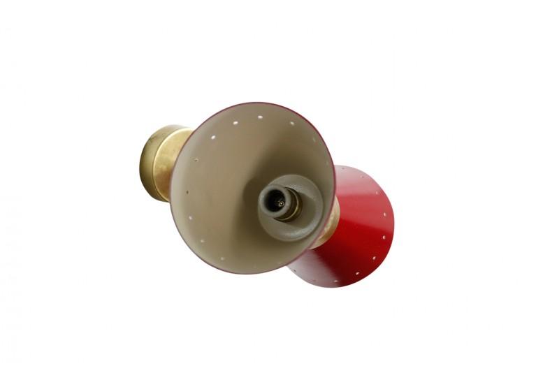 lampe wandleuchten messing italien brass sconces 1960s 60er stilnovo style arredoluce style