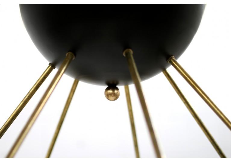 Lampe Italien, Metall, Messing, Stilnovo, Arredoluce, 60er, 70er, Italian modern fush mount stilnovo style chandelier