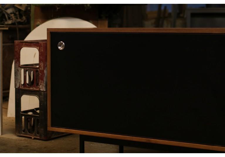 Minimalist Teak Sideboard Nathan Lindberg, Black Formica Doors