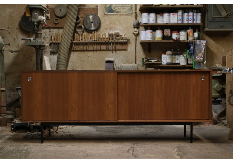 Teak Sideboard, Mid Century Modern Design, in the manner of Florence Knoll, George Nelson, 60er Jahre