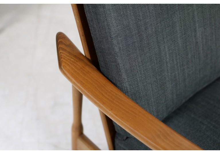 60er Teak Sessel Italy Buche Beechwood Italian Lounge Chairs organic