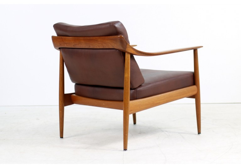 60er Teak Sessel, Knoll, Easy Chair, Lounge Chair, Knoll Antimott, Teak und Leder