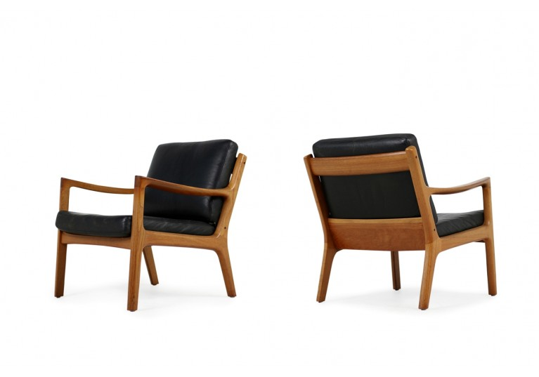 50er Sessel, Ole Wancher, Danish modern design, 60er Easy Chair, denmark, France & son, Teak, Leder