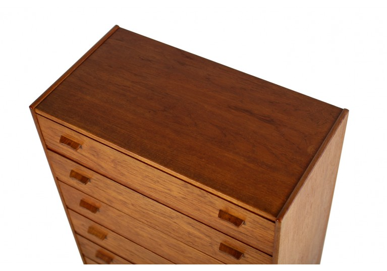 60er Teak & Eiche Kommode, danish chest of drawers, Poul Volther, FDB