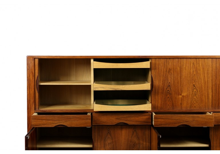 60er Palisander Sideboard, Highboard, Bar, Johannes Andersen, Hans Bech, Danish modern, 50er Jahre, Rosewood Cabinet
