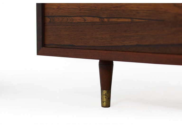 60er Kommode, Paliander, Rosewood, Chest of drawers, danish modern, brass, 1960s, 50er