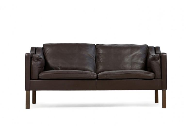 60er Sofa, Borge Mogensen Mod. 2212 Ledersofa, Fredericia Denmark