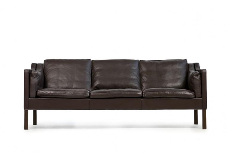 60er Leder Sofa, Borge Mogensen, Mod. 2213, Fredericia Denmark