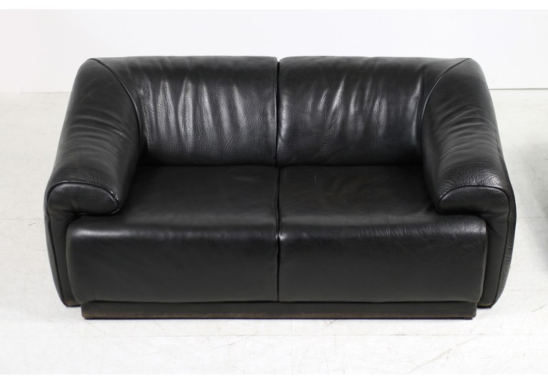 70er Lounge Leder Sofa, desede style, buffalo leather