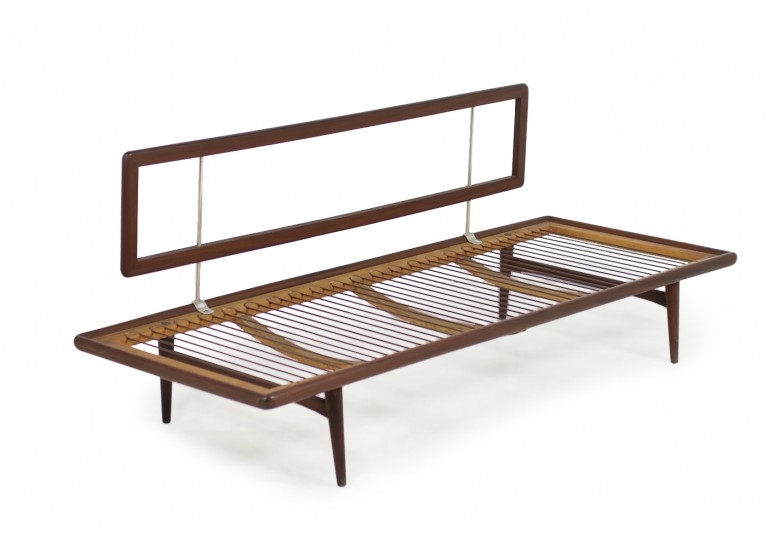 60er Teak Sofa Daybed, in the manner of Peter Hvidt, danish modern