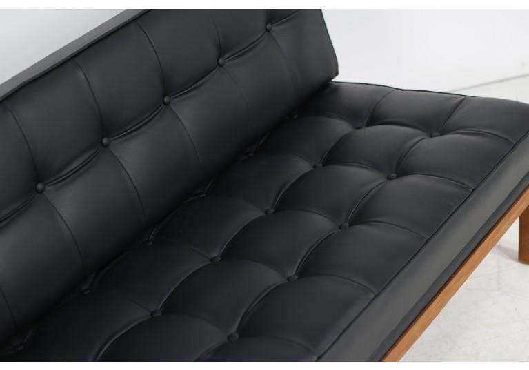 60er Sofa, Daybed, Johannes Spalt für Wittmann, Model Constanze, Teak und Leder