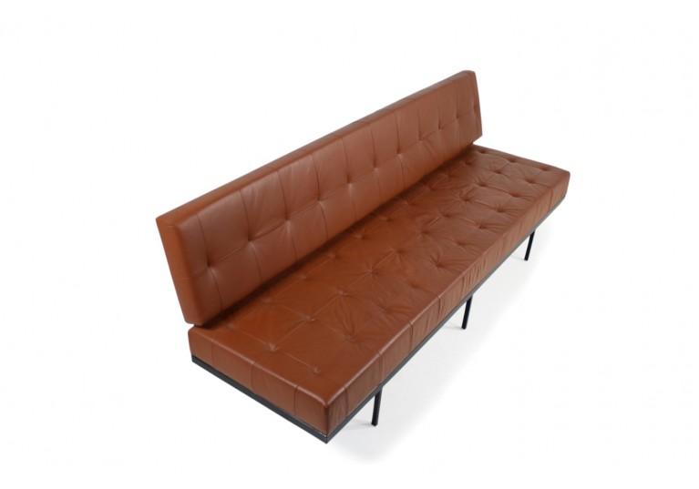 50er, 60er Sofa, Florence Knoll, daybed, Sofa, Leder
