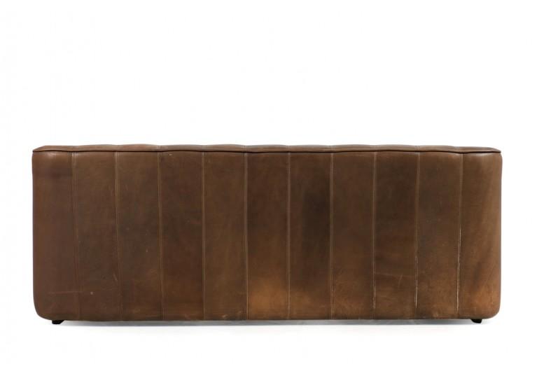 70er Ledersofa, Büffelleder, De Sede DS 44, 3-Sitzer