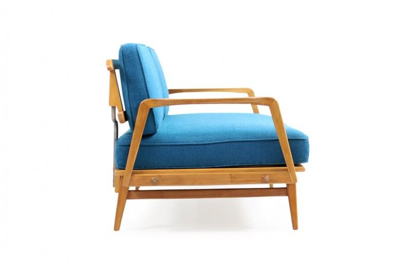 50er Daybed, Knoll Antimott, ES, Eugen Schmidt, Mid century modern, 60er, petrol, buche, extendable sofa