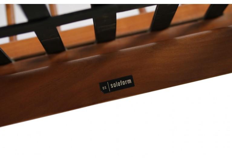 50er Boomerang Sofa ES Eugen Schmidt, Heinz Mitzlaff Kirschholz mid century modern