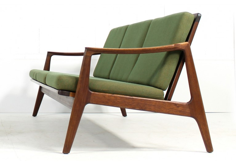 Beautiful 1960s Olive Teak Sofa Mid century Modern Design