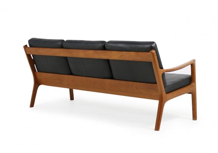 60er Jahre Sofa, Ole Wanscher, Teak & Leder, France & Son, danish modern