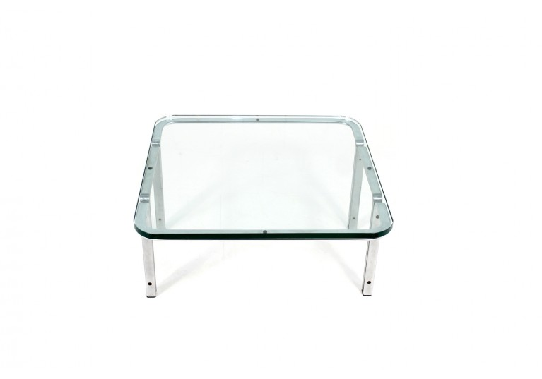 70er Tisch Hort Brüning 6910 Metall Glas