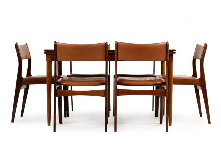 60er Tisch, Niels Möller Dining Table, Danish Modern Design, Palisander, Rosewood