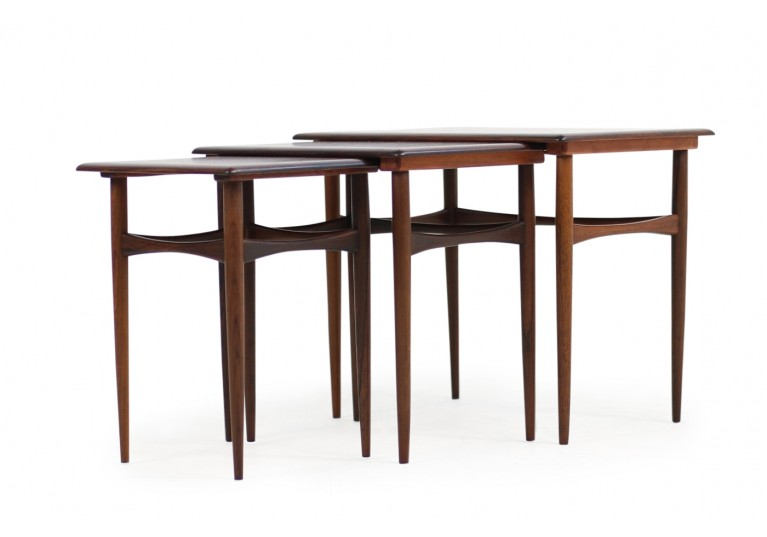 Set of 3 Danish Nesting Tables by Arne Hovmand Olsen Rosewood