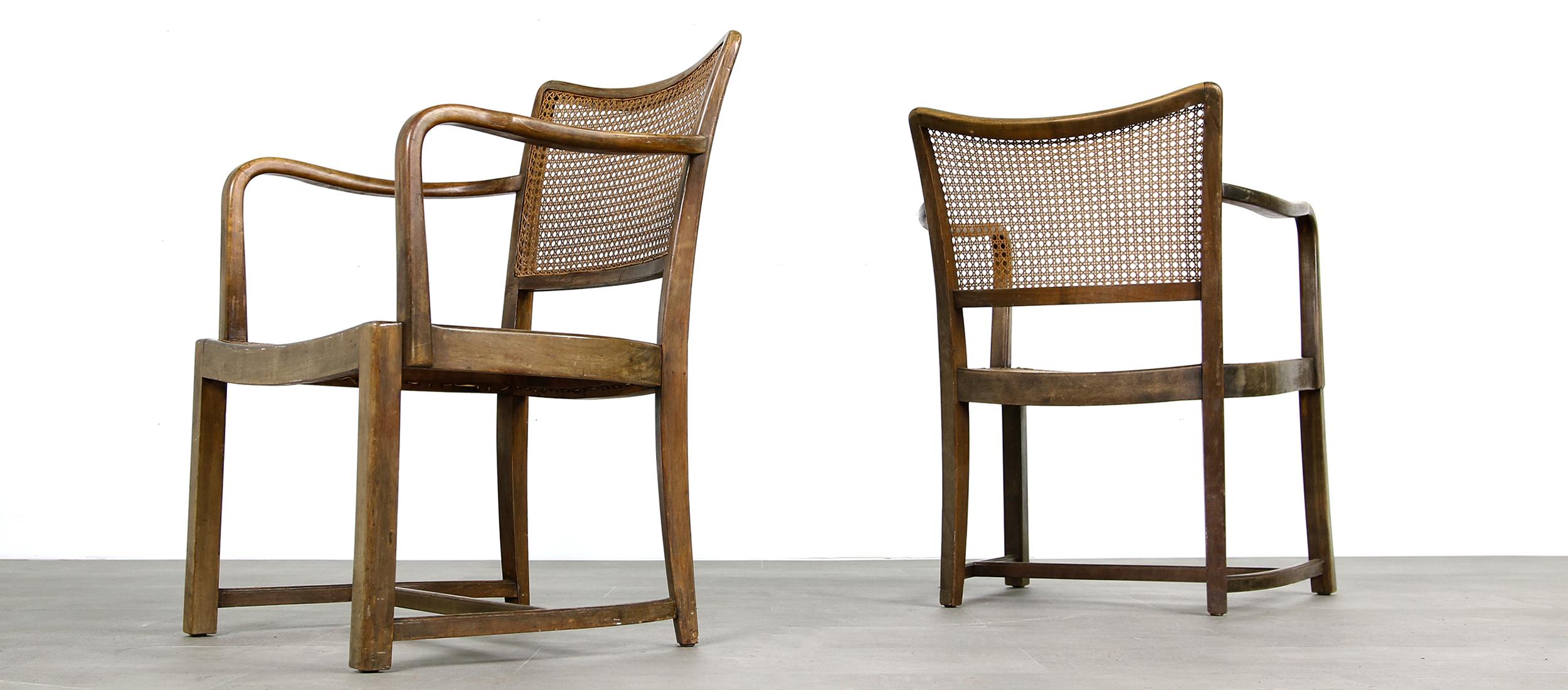 chairs, perriand, henningsen, stühle, 50er jahre, bentwood, cane, wiener geflecht